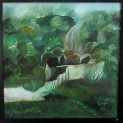 water fountain, 24 x 24 inch, sangita agrawal,24x24inch,canvas,paintings,abstract paintings,wildlife paintings,landscape paintings,nature paintings,paintings for dining room,paintings for living room,paintings for bedroom,paintings for office,paintings for bathroom,paintings for kids room,paintings for hotel,paintings for kitchen,paintings for school,paintings for hospital,oil color,GAL01425124969