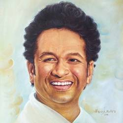 sachin tendulkar, 20 x 24 inch, harish  mehra,20x24inch,canvas,paintings,mother teresa paintings,paintings for living room,oil color,GAL01428524981