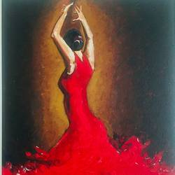 spanish dancer, 12 x 16 inch, kangana vohra,12x16inch,canvas,paintings,figurative paintings,impressionist paintings,realism paintings,street art,realistic paintings,paintings for dining room,paintings for living room,paintings for bedroom,paintings for office,paintings for bathroom,paintings for kids room,paintings for hotel,paintings for school,paintings for hospital,acrylic color,GAL0725825002