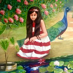 girl by the pond, 30 x 36 inch, kangana vohra,30x36inch,canvas,paintings,figurative paintings,flower paintings,landscape paintings,conceptual paintings,portrait paintings,nature paintings,art deco paintings,impressionist paintings,portraiture,realism paintings,surrealism paintings,realistic paintings,love paintings,water fountain paintings,children paintings,kids paintings,paintings for dining room,paintings for living room,paintings for bedroom,paintings for office,paintings for bathroom,paintings for kids room,paintings for hotel,paintings for kitchen,paintings for school,paintings for hospital,paintings for dining room,paintings for living room,paintings for bedroom,paintings for office,paintings for bathroom,paintings for kids room,paintings for hotel,paintings for kitchen,paintings for school,paintings for hospital,acrylic color,GAL0725825004