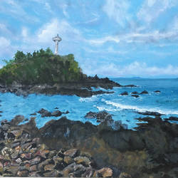 light house, 30 x 18 inch, rajani  arya,30x18inch,canvas board,paintings,landscape paintings,nature paintings,water fountain paintings,paintings for dining room,paintings for living room,paintings for bedroom,paintings for office,paintings for hotel,paintings for hospital,acrylic color,GAL01433625037
