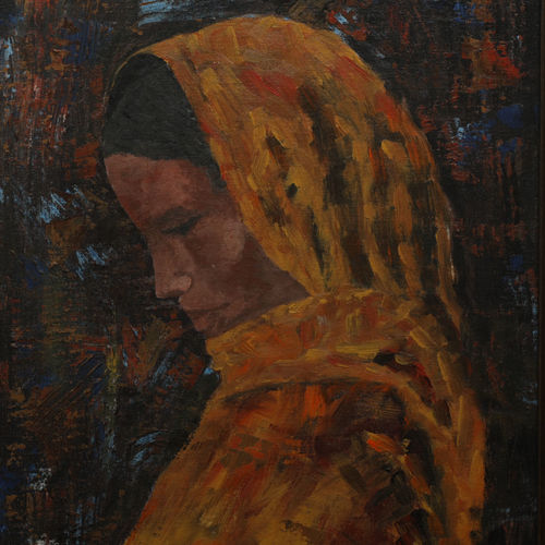 looking beyond, 12 x 16 inch, rajani  arya,12x16inch,canvas board,paintings,figurative paintings,portrait paintings,paintings for living room,paintings for bedroom,paintings for office,paintings for hotel,acrylic color,GAL01433625039