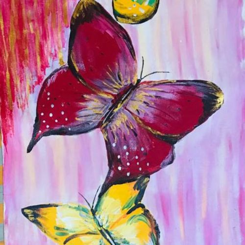 colourful butterflies , 20 x 48 inch, vimal drall,20x48inch,canvas,paintings,nature paintings,paintings for dining room,paintings for living room,paintings for hotel,acrylic color,GAL01417725059