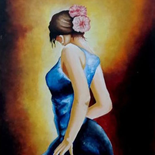 a girl, 18 x 24 inch, umakant choudhary,18x24inch,canvas board,paintings,abstract paintings,figurative paintings,modern art paintings,love paintings,paintings for living room,paintings for bedroom,paintings for hotel,acrylic color,GAL01424525092