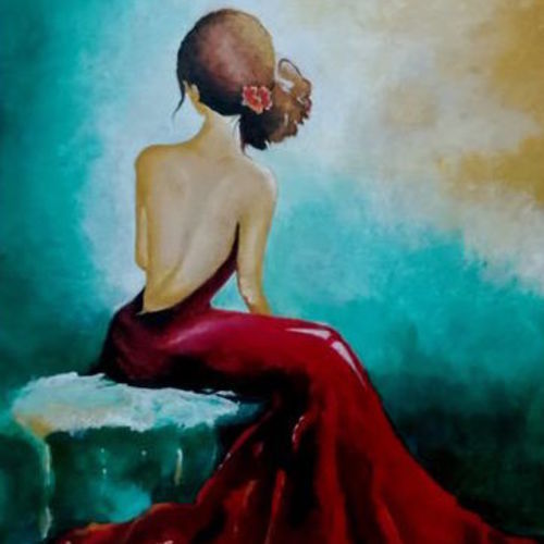 a girl, 18 x 24 inch, umakant choudhary,18x24inch,canvas board,abstract paintings,figurative paintings,modern art paintings,paintings for living room,paintings for office,paintings for bathroom,paintings for living room,paintings for office,paintings for bathroom,acrylic color,GAL01424525093