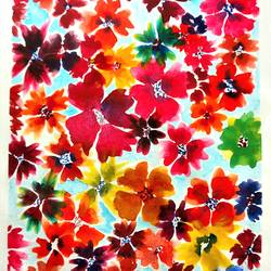colourful petals, 6 x 8 inch, nidhi singhal,6x8inch,drawing paper,abstract paintings,paintings for living room,paintings for office,paintings for kids room,paintings for living room,paintings for office,paintings for kids room,watercolor,GAL01399425143