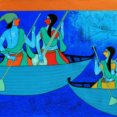 in kashmir, 35 x 47 inch, chetan katigar,35x47inch,canvas,paintings,abstract paintings,figurative paintings,landscape paintings,multi piece paintings,religious paintings,still life paintings,nature paintings,abstract expressionism paintings,art deco paintings,expressionism paintings,impressionist paintings,radha krishna paintings,contemporary paintings,love paintings,paintings for dining room,paintings for living room,paintings for bedroom,paintings for office,acrylic color,GAL026625154
