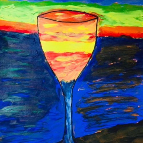 desired drink, 12 x 15 inch, shruti jain,12x15inch,ivory sheet,paintings,abstract paintings,landscape paintings,modern art paintings,paintings for dining room,paintings for living room,acrylic color,poster color,GAL01403925159