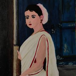 woman, 8 x 12 inch, nidhi singhal,8x12inch,thick paper,paintings,figurative paintings,acrylic color,GAL01399425170
