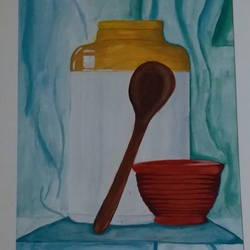 desi yaad, 17 x 23 inch, niharika  singh,17x23inch,cartridge paper,paintings,still life paintings,poster color,GAL01438925171