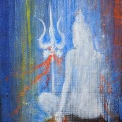 lord shiva, 12 x 24 inch, ramakrishna nimmaraju,12x24inch,canvas,paintings,abstract paintings,modern art paintings,paintings for dining room,paintings for living room,paintings for office,paintings for kids room,paintings for hotel,paintings for kitchen,paintings for school,paintings for hospital,acrylic color,GAL0586525208