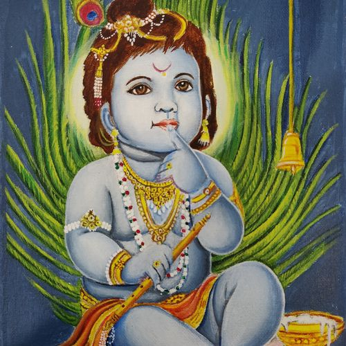 krishna, 10 x 12 inch, neha sharma,10x12inch,canvas,religious paintings,paintings for dining room,paintings for living room,paintings for office,paintings for kitchen,paintings for school,paintings for hospital,paintings for dining room,paintings for living room,paintings for office,paintings for kitchen,paintings for school,paintings for hospital,acrylic color,GAL01433425219