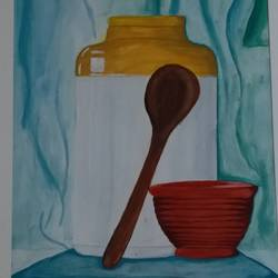 desi yaad, 17 x 23 inch, niharika  singh,17x23inch,cartridge paper,paintings,still life paintings,poster color,GAL01438925220