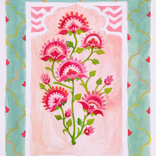 flower watercolor paintings, motifs, indian,ethnic, designs,, 8 x 10 inch, harshita s,8x10inch,brustro watercolor paper,paintings,flower paintings,paintings for dining room,paintings for living room,paintings for bedroom,paintings for office,paintings for kids room,paintings for hotel,paintings for school,paintings for hospital,watercolor,paper,GAL01430725227