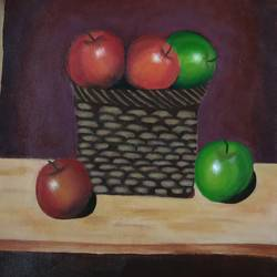 still life, 11 x 13 inch, anna anna,11x13inch,cloth,still life paintings,acrylic color,oil color,GAL01440225257