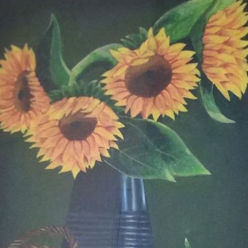 sunflowers, 12 x 18 inch, anna anna,12x18inch,canvas,flower paintings,paintings for dining room,paintings for living room,paintings for bedroom,paintings for hotel,paintings for school,paintings for hospital,paintings for dining room,paintings for living room,paintings for bedroom,paintings for hotel,paintings for school,paintings for hospital,oil color,GAL01440225259