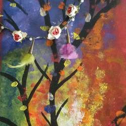 tree full of opportunities, 10 x 20 inch, niyukta  agarwal,10x20inch,acrylic glass,paintings,nature paintings,paintings for dining room,paintings for living room,paintings for school,paintings for dining room,paintings for living room,paintings for school,acrylic color,glass,GAL01443025269