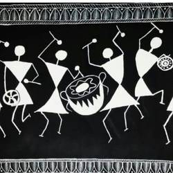 warli art, 22 x 29 inch, niyukta  agarwal,22x29inch,paper,paintings,warli paintings,paintings for dining room,paintings for living room,paintings for kids room,paintings for dining room,paintings for living room,paintings for kids room,acrylic color,GAL01443025275