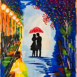a lovely colourful night, 20 x 28 inch, vimal drall,20x28inch,canvas,paintings,impressionist paintings,love paintings,paintings for dining room,paintings for living room,paintings for bedroom,paintings for hotel,acrylic color,fabric,GAL01417725277