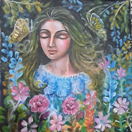 beauty of nature , 10 x 12 inch, archana satapathy ,10x12inch,canvas,paintings,figurative paintings,paintings for living room,paintings for living room,acrylic color,GAL01407825278
