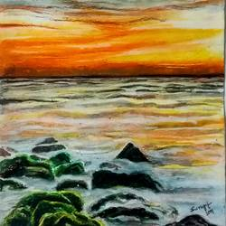 nature in pastel, 11 x 15 inch, surajit  mondal,11x15inch,cartridge paper,paintings,nature paintings,paintings for dining room,paintings for living room,paintings for bedroom,paintings for office,paintings for bathroom,paintings for hotel,paintings for kitchen,pastel color,GAL01429425284