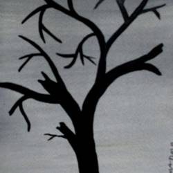 dry tree-10, 6 x 12 inch, tamal sen sharma,6x12inch,brustro watercolor paper,paintings,nature paintings,miniature painting.,paintings for dining room,paintings for living room,paintings for bedroom,paintings for office,paintings for bathroom,paintings for kids room,paintings for hotel,paintings for kitchen,paintings for school,paintings for hospital,acrylic color,mixed media,GAL01201325311