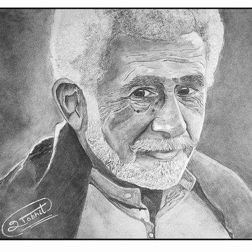 naseeruddin shah - a4, 12 x 8 inch, shobhit verma,12x8inch,paper,drawings,expressionism drawings,fine art drawings,impressionist drawings,photorealism drawings,portrait drawings,realism drawings,surrealism drawings,paintings for dining room,paintings for living room,paintings for bedroom,paintings for office,paintings for bathroom,paintings for kids room,paintings for hotel,paintings for kitchen,paintings for school,paintings for hospital,charcoal,graphite pencil,paper,GAL01429325325