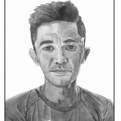 sunil chhetri - a4, 12 x 8 inch, shobhit verma,12x8inch,paper,drawings,expressionism drawings,impressionist drawings,photorealism drawings,portrait drawings,realism drawings,surrealism drawings,paintings for dining room,paintings for living room,paintings for bedroom,paintings for office,paintings for bathroom,paintings for kids room,paintings for hotel,paintings for kitchen,paintings for school,paintings for hospital,charcoal,graphite pencil,paper,GAL01429325326
