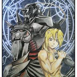 fullmetal alchemist - elric brothers - a3, 14 x 11 inch, shobhit verma,14x11inch,paper,drawings,conceptual drawings,expressionism drawings,figurative drawings,fine art drawings,illustration drawings,impressionist drawings,portrait drawings,surrealism drawings,kids drawings,paintings for dining room,paintings for living room,paintings for bedroom,paintings for office,paintings for bathroom,paintings for kids room,paintings for hotel,paintings for kitchen,paintings for school,paintings for hospital,pencil color,watercolor,ball point pen,graphite pencil,paper,GAL01429325327