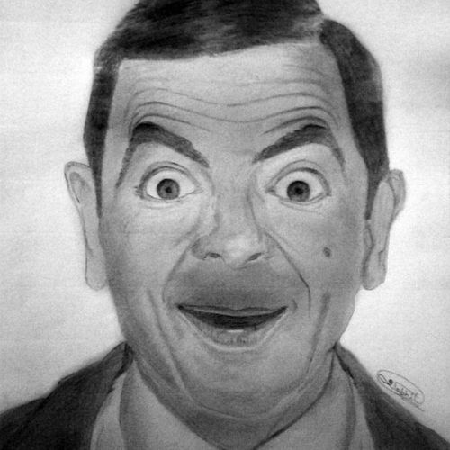 mr bean - a4, 12 x 8 inch, shobhit verma,12x8inch,paper,drawings,expressionism drawings,figurative drawings,fine art drawings,illustration drawings,impressionist drawings,photorealism drawings,portrait drawings,realism drawings,surrealism drawings,kids drawings,paintings for dining room,paintings for living room,paintings for bedroom,paintings for office,paintings for bathroom,paintings for kids room,paintings for hotel,paintings for kitchen,paintings for school,paintings for hospital,charcoal,graphite pencil,paper,GAL01429325328