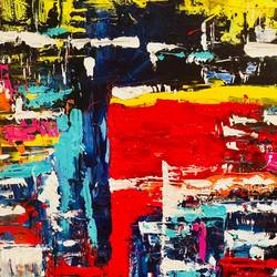 panic at the disco, 34 x 48 inch, ayesha  seksaria ,34x48inch,canvas,abstract paintings,acrylic color,GAL01460425366