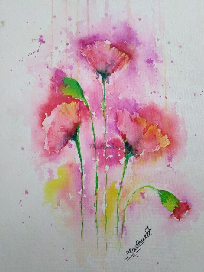 flower2, 10 x 14 inch, madhushree pawar,10x14inch,handmade paper,paintings,art deco paintings,paintings for dining room,paintings for living room,paintings for bedroom,paintings for office,paintings for hotel,watercolor,GAL01458325375