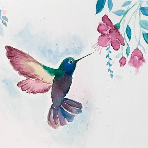 humming bird watercolor painting, blue and pink , 9 x 7 inch, harshita s,9x7inch,brustro watercolor paper,wildlife paintings,flower paintings,nature paintings,animal paintings,paintings for dining room,paintings for living room,paintings for bedroom,paintings for office,paintings for kids room,paintings for hotel,paintings for kitchen,paintings for school,paintings for hospital,paintings for dining room,paintings for living room,paintings for bedroom,paintings for office,paintings for kids room,paintings for hotel,paintings for kitchen,paintings for school,paintings for hospital,watercolor,GAL01430725377