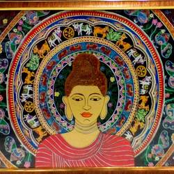 madhubanu budha painting, 50 x 45 inch, prity shah,50x45inch,handmade paper,paintings,buddha paintings,paintings for living room,paintings for office,paintings for hotel,paintings for school,paintings for living room,paintings for office,paintings for hotel,paintings for school,poster color,GAL01249625387
