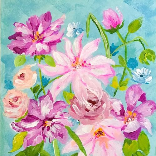 in my garden, flowers acrylic painting, 8 x 10 inch, harshita s,8x10inch,canvas,paintings,abstract paintings,flower paintings,modern art paintings,still life paintings,nature paintings,impressionist paintings,paintings for dining room,paintings for living room,paintings for bedroom,paintings for office,paintings for bathroom,paintings for kids room,paintings for hotel,paintings for kitchen,paintings for school,paintings for hospital,acrylic color,GAL01430725388