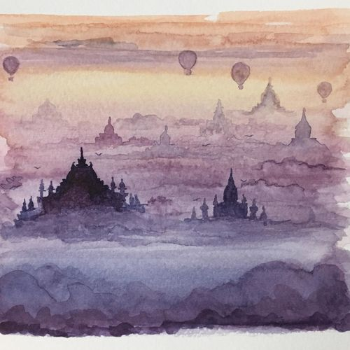 watercolor monuments,temples of bagan, collectible art, 6 x 5 inch, harshita s,6x5inch,canvas,paintings,abstract paintings,landscape paintings,modern art paintings,paintings for dining room,paintings for living room,paintings for bedroom,paintings for office,paintings for bathroom,paintings for kids room,paintings for hotel,paintings for school,acrylic color,GAL01430725389