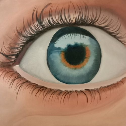 beautiful eyes, 20 x 14 inch, ila  singh,20x14inch,canvas,paintings,still life paintings,expressionism paintings,photorealism paintings,photorealism,realism paintings,love paintings,paintings for living room,paintings for office,paintings for hotel,paintings for school,paintings for hospital,oil color,GAL0795925401