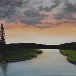 acrylic landscape painting, 30 x 18 inch, adithya  muralidharan ,30x18inch,canvas board,paintings,abstract paintings,paintings for dining room,paintings for living room,paintings for bedroom,paintings for office,paintings for hotel,acrylic color,GAL01251525407