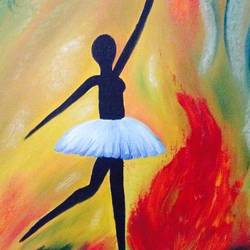 dancing lady, 14 x 18 inch, samata vallurupalli,modern art paintings,paintings for living room,canvas,oil,14x18inch,GAL09632541