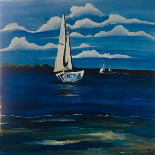 yatch in blue, 24 x 24 inch, priyanka i lahoti,24x24inch,canvas,portrait paintings,paintings for dining room,paintings for living room,paintings for bedroom,paintings for office,paintings for hotel,paintings for kitchen,paintings for dining room,paintings for living room,paintings for bedroom,paintings for office,paintings for hotel,paintings for kitchen,acrylic color,GAL01453925429