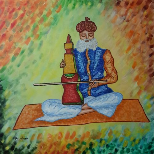 colors of music, 30 x 30 inch, kamlesh  purohit ,30x30inch,canvas,paintings,figurative paintings,paintings for dining room,paintings for living room,paintings for office,paintings for kids room,paintings for hotel,paintings for school,paintings for hospital,acrylic color,GAL01468725437