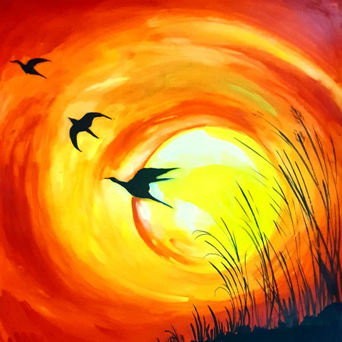 free fly in the sky, 11 x 12 inch, seema agrawal,11x12inch,cartridge paper,paintings,landscape paintings,nature paintings,paintings for dining room,paintings for living room,paintings for bedroom,paintings for office,paintings for hotel,watercolor,GAL0185925448