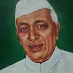 pandit  jawaharlal nehru, 18 x 24 inch, sk srivastava,18x24inch,canvas,portrait paintings,paintings for office,paintings for office,oil color,GAL01382325457
