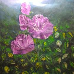 flowers, 24 x 32 inch, smita singhai,24x32inch,canvas,paintings,paintings for living room,paintings for living room,oil color,metal,GAL01475825461