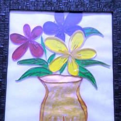 trinity_flower_art, 10 x 15 inch, minakhi choudhury,10x15inch,hardboard,paintings,flower paintings,paintings for living room,paintings for bedroom,paintings for office,mixed media,GAL01441425479