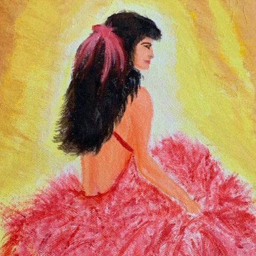 show girl ready for spotlight, 8 x 10 inch, gayathiri  guliani,8x10inch,canvas,paintings,modern art paintings,paintings for bedroom,acrylic color,GAL01450225483