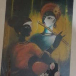 krishna and radha, 20 x 26 inch, smita singhai,20x26inch,canvas,paintings,radha krishna paintings,paintings for dining room,paintings for living room,paintings for bedroom,oil color,GAL01475825502