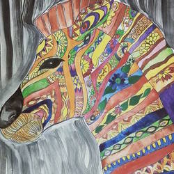 colorful horse, 9 x 12 inch, neha  gangal,9x12inch,ivory sheet,animal paintings,paintings for dining room,paintings for living room,paintings for bathroom,paintings for kids room,paintings for hotel,paintings for school,paintings for dining room,paintings for living room,paintings for bathroom,paintings for kids room,paintings for hotel,paintings for school,poster color,GAL01408625503