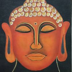 buddha in peace, 10 x 8 inch, neha  gangal,10x8inch,canvas,paintings,religious paintings,paintings for dining room,paintings for living room,paintings for office,paintings for kids room,paintings for hotel,paintings for kitchen,paintings for school,paintings for hospital,acrylic color,GAL01408625504