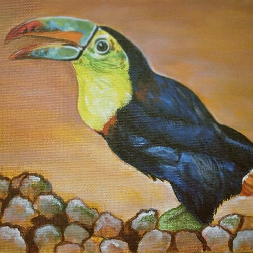 beautiful bird, 8 x 6 inch, neha  gangal,8x6inch,canvas,paintings,wildlife paintings,nature paintings,paintings for dining room,paintings for living room,paintings for bedroom,paintings for office,paintings for kids room,paintings for hotel,paintings for kitchen,acrylic color,GAL01408625509